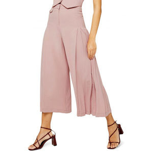 nwt Topshop Crop Wide Leg Pants Trousers pink 8